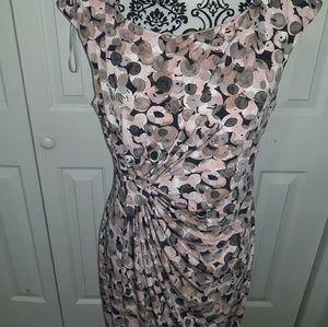Connected Apparel Faux Wrap Dress
